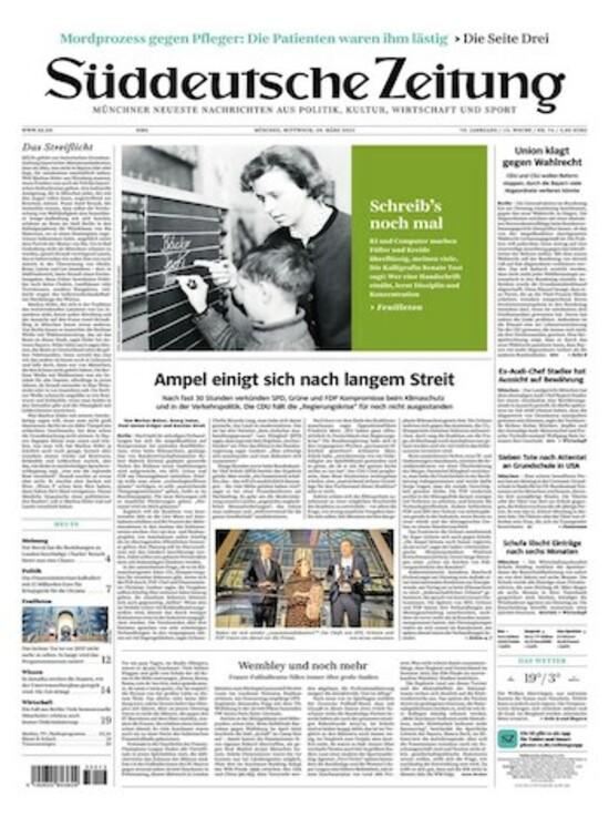 Süddeutsche Zeitung Anzeigenbuchung